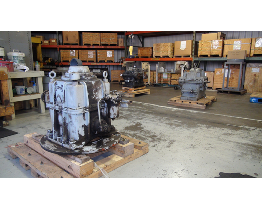 Received Gearboxes to be Inspected and Rebuilt